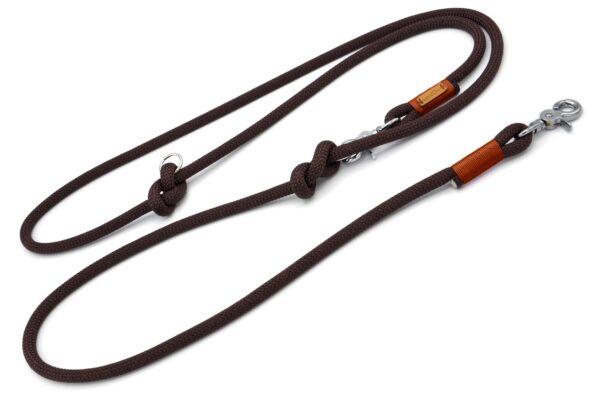 braune Umhängeleine 2-fach verstellbar ca. 250cm