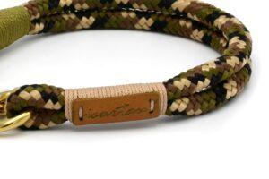 Halsbänder Cover up DESERT (Softtau), Takelung in Beige und/oder Moos