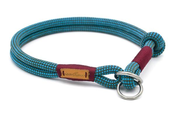 Zugstopp Halsband mit Knoten-Stopp - Takel burgunder