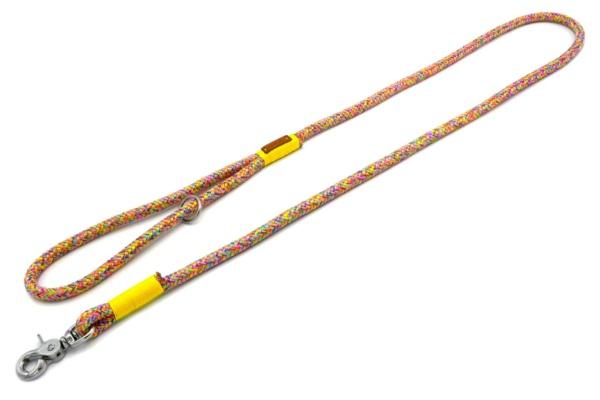 Führleine mit Handschlaufe (ca. 140cm) mit Takelung in Sonnengelb