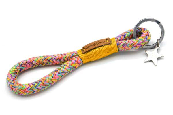Tau-Schlüsselanhänger MAXI (ca. 15-17 cm lang) mit Takel Goldgelb