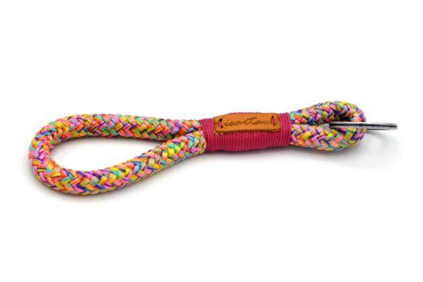 Tau-Schlüsselanhänger MAXI (ca. 15-17 cm lang) mit Takel Fuchsia