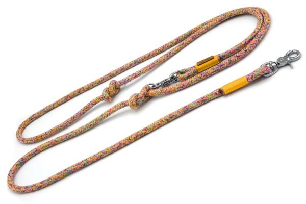 Umhängeleine 2-fach verstellbar (ca. 190cm) mit Takelung in Goldgelb, Seistärke 8mm