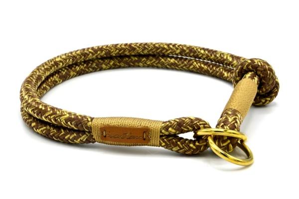 Zugstopp Halsband mit Knoten-Stopp, Gold Digger RANA (Softtau)