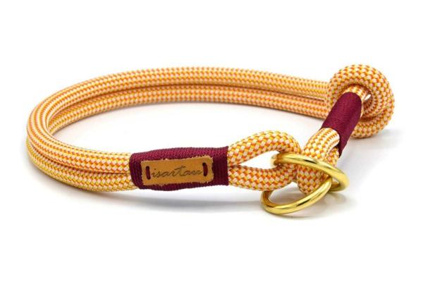 Zugstopp Halsband mit Knoten-Stopp, Honey Melon RONJA (Kletterseil)