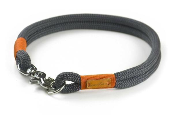 festes Halsband aus Kletterseil mit Karabinerverschluss, nicht verstellbar