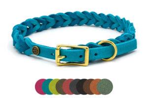 Verstellbares Lederhalsband Tender PURE, in 9 Farben und 8 Größen verfügbar