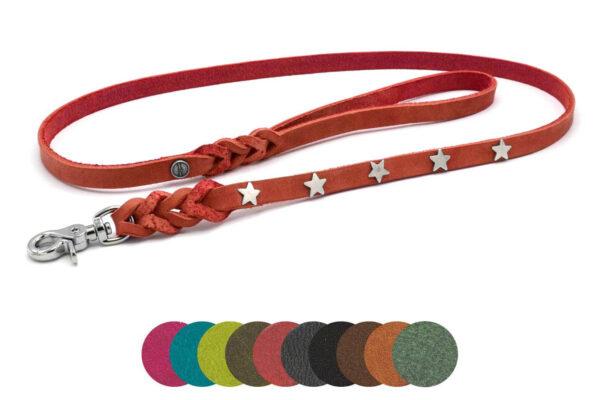 """Lederleinen """"OPULENT"""" in 9 verschiedenen Farben und 2 Modellen mit tollen Schnmucknieten"""