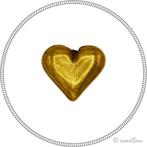 """Herz """"goldfarben"""""""