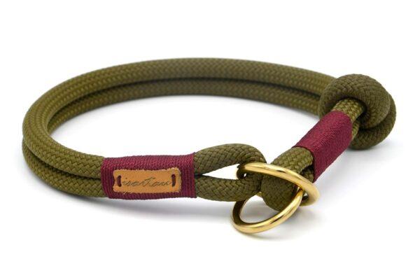 Zugstopp Halsband aus Tau mit Knoten-Stopp - Kletterseil 2 Unifarben