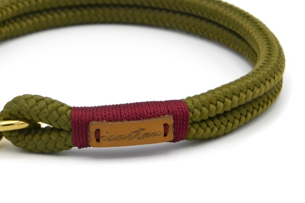 Halsbänder Olive Grove BURGUNDY aus Softtau