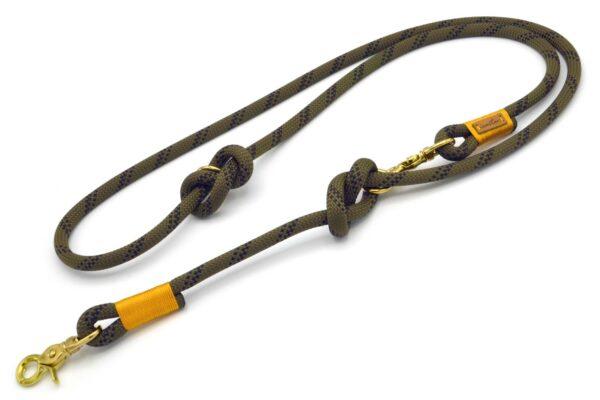 Führleine 2-fach verstellbar (ca. 190cm) - Kletterseil 1 mit Schwarz