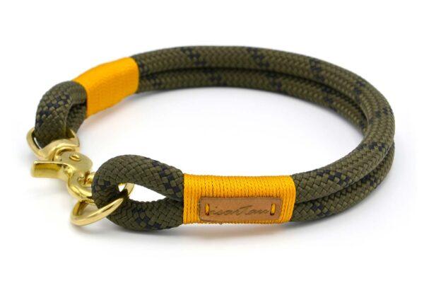 festes Halsband aus Tau mit Karabinerverschluss, nicht verstellbar - Kletterseil 1 mit Schwarz