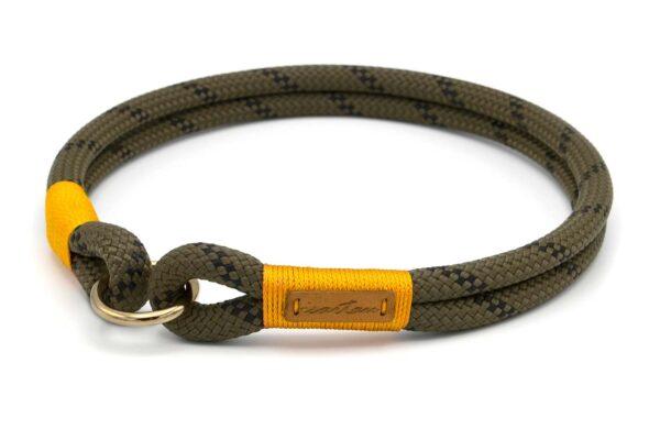 Schlupfhalsband aus Tau, nicht verstellbar - Kletterseil 1 mit Schwarz