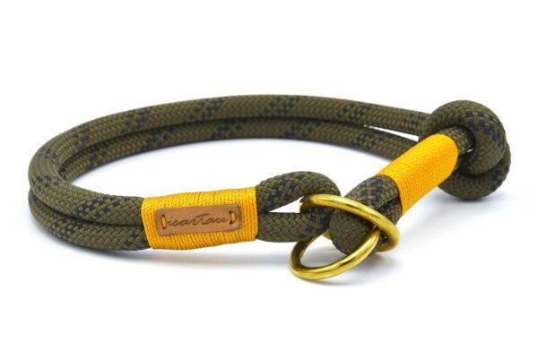 Zugstopp Halsband aus Tau mit Knoten-Stopp - Kletterseil 1 mit Schwarz