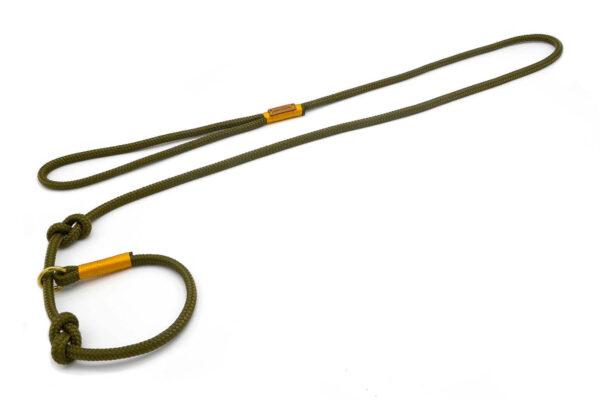 Retrieverleine mit Handschlaufe (ca. 130cm + Halsung) - Softtau