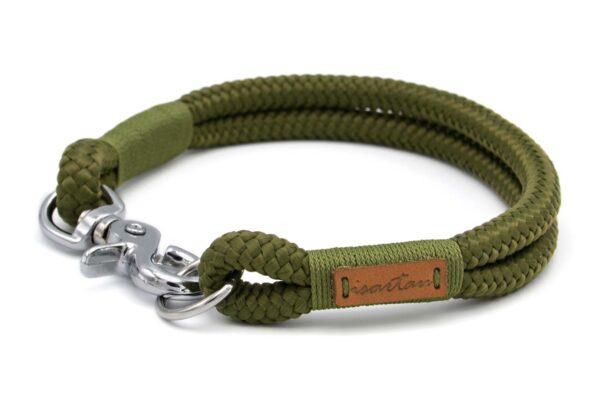 festes Halsband aus Tau mit Karabinerverschluss, nicht verstellbar Olive Grove MOSSY