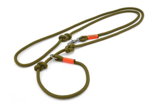 Retrieverleine 2-fach verstellbar (ca. 190cm plus Halsung)