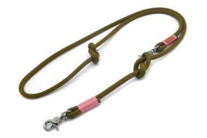 Führleine 2-fach verstellbar (ca. 190cm) - Kletterseil 2 Unifarben