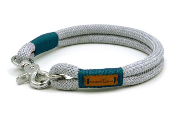 festes Halsband aus Tau mit Karabinerverschluss, nicht verstellbar