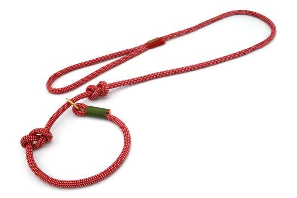 Retrieverleine mit Handschlaufe (ca. 130cm + Halsung)