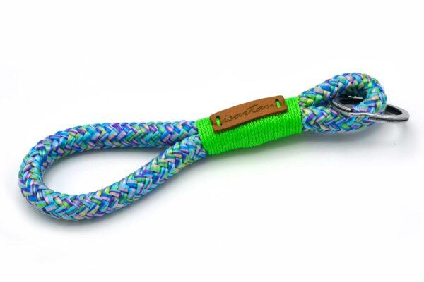 Tau-Schlüsselanhänger MAXI (ca. 15-17 cm lang) mit Takel Neon-Grün