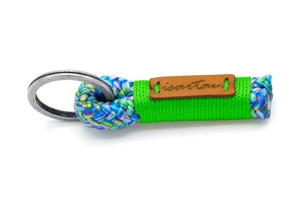 Tau-Schlüsselanhänger SHORTY (ca. 5-6 cm lang) mit Takel Neon-Grün
