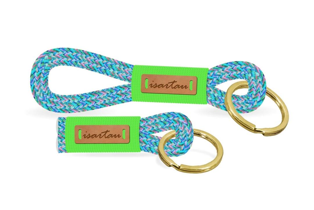 Schlüsselanhänger aus Tau, Takelung in Neon-Grün