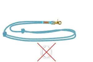Handykette (ohne Halterring), Karabiner goldfarben und Takelung in Meerblau