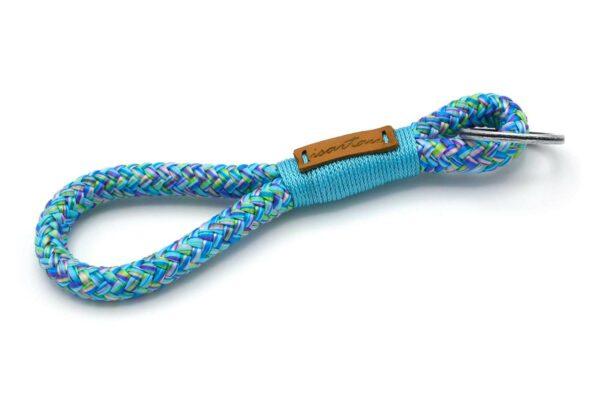 Tau-Schlüsselanhänger MAXI (ca. 15-17 cm lang) mit Takel Meerblau
