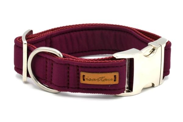 """Halsband """"Softie Adult BURGUNDER"""" in 4 verschiedenen Größen, 3cm breit"""