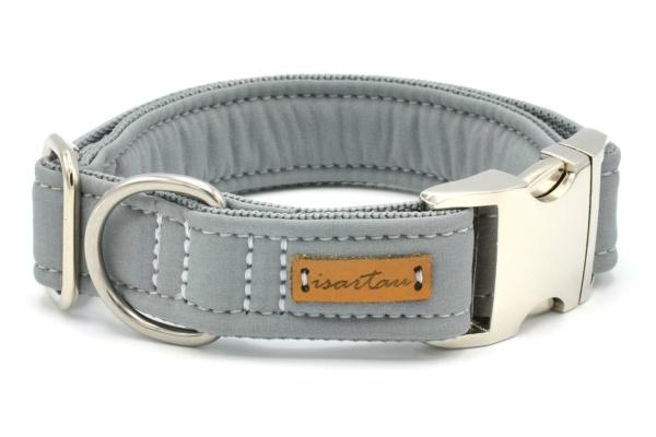 """Halsband """"Softie Adult GRAU"""" in 4 verschiedenen Größen, 3cm breit"""
