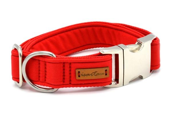 """Halsband """"Softie Adult ROT"""" in 4 verschiedenen Größen, 3cm breit"""