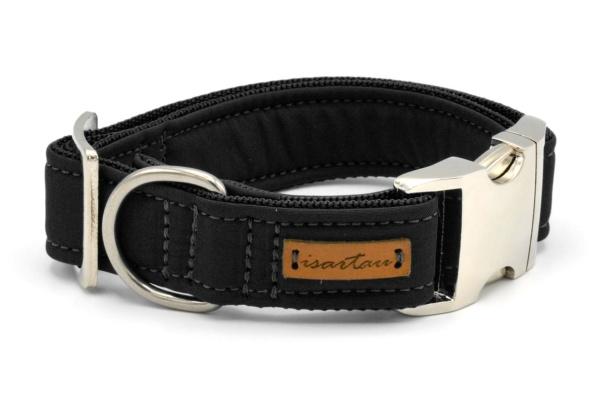 """Halsband """"Softie Adult SCHWARZ"""" in 4 verschiedenen Größen, 3cm breit"""