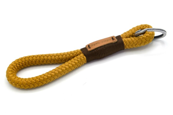 Tau-Schlüsselanhänger MAXI (ca. 15-17 cm lang) mit Takel Dunkelbraun