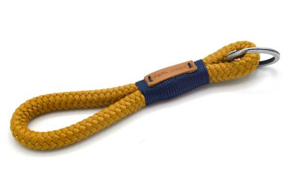 Tau-Schlüsselanhänger MAXI (ca. 15-17 cm lang) mit Takelung in Marineblau