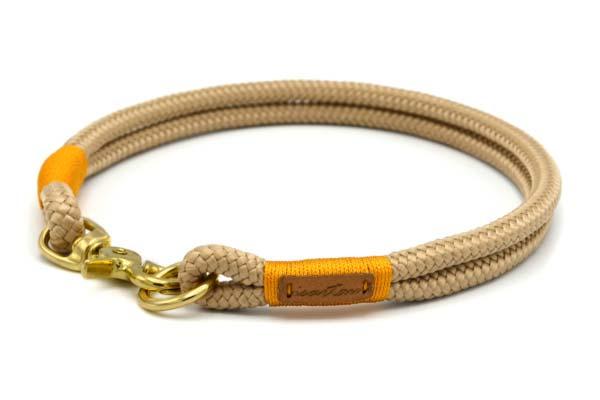 festes Halsband aus Tau mit Karabinerverschluss, nicht verstellbar - Softtau