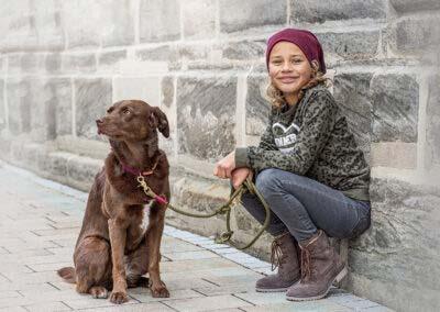 Partnerlook mit Deinem Hund (Beanie und passendes Leinenset)