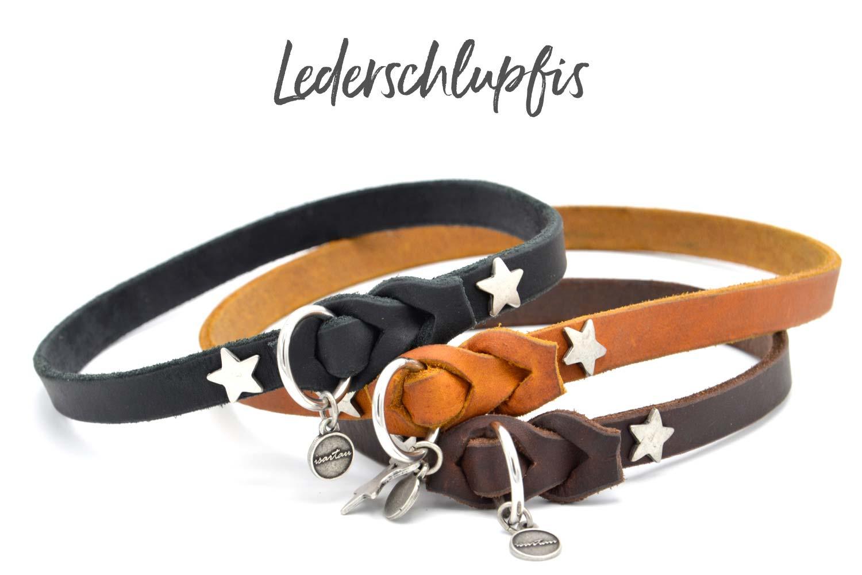 Lederschlupfis, Markenband für Hunde